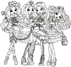 Разукрашки Ever After High